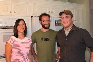 Sarah, Mike and Matt Taylor